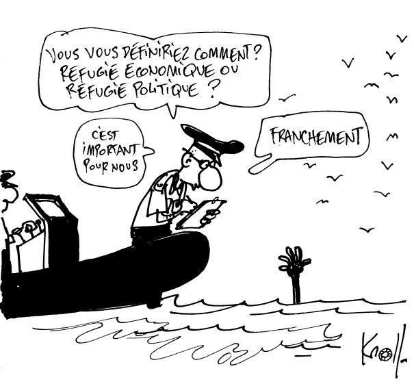 viñeta refugiados